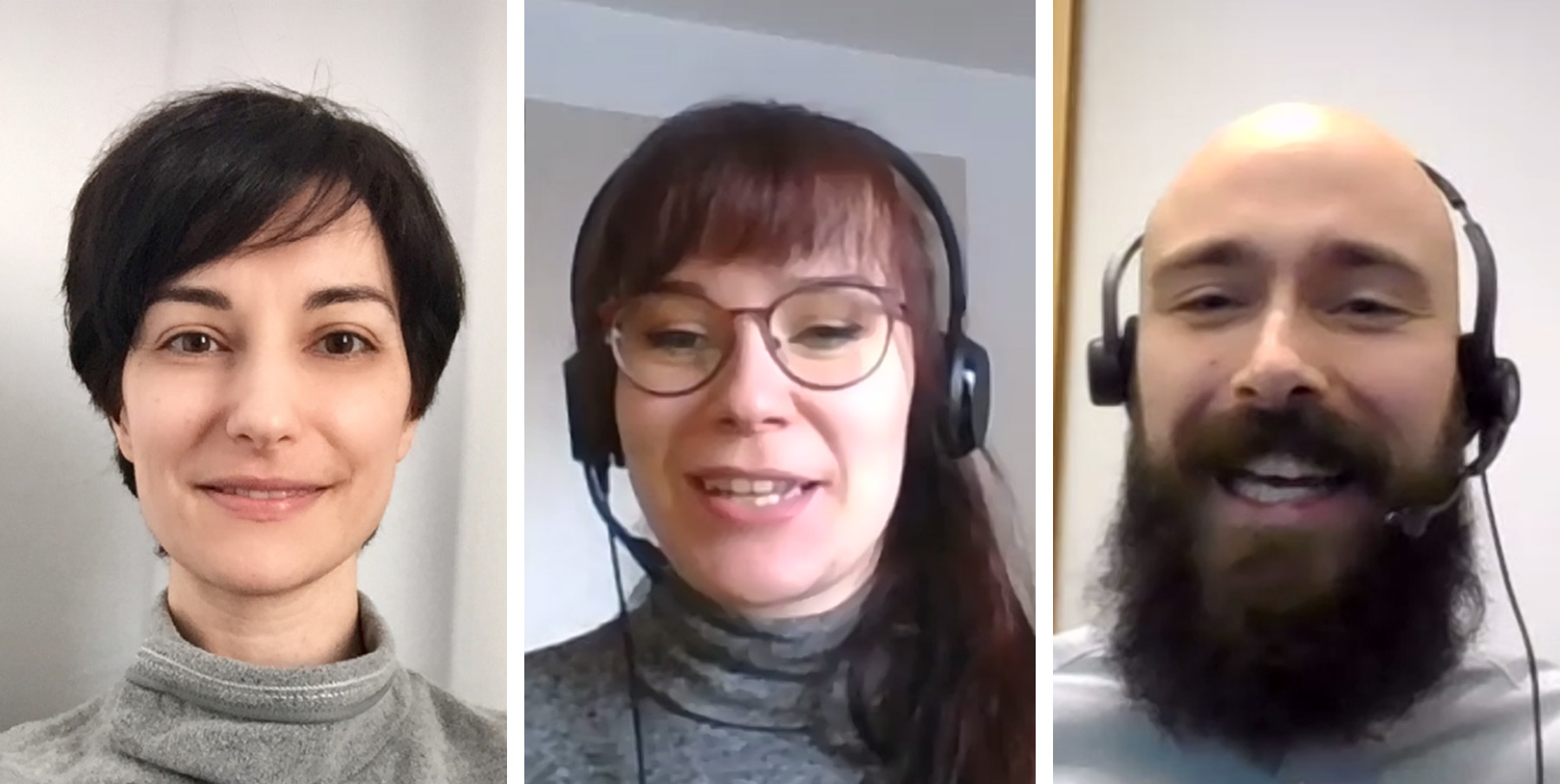 Mia Pujol, Susanna Hakanpää ja Adrian Mateos