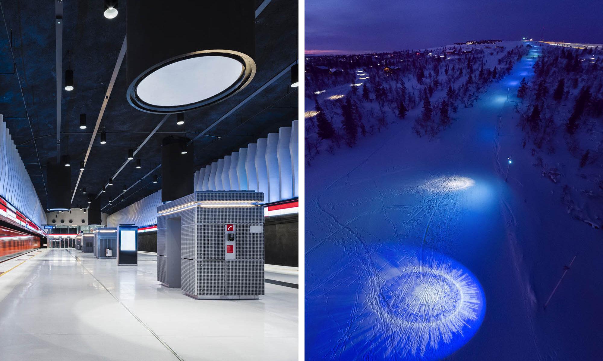 Vuoden valaistuskohde 2019: Länsimetro ja Aurora Experience